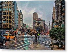X-ing Broadway Acrylic Print by Jeffrey Friedkin