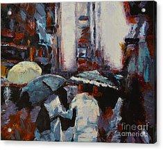 Rainy New York Acrylic Print