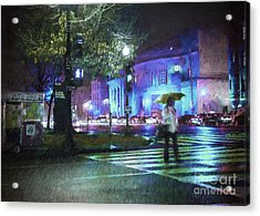 Rainy Night Blues Acrylic Print