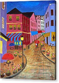 Rainy Night In Paris Acrylic Print