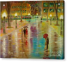 Rainy Reflections Acrylic Print