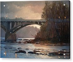 Rainy River Acrylic Print by Blue Sky