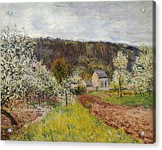 Rainy Spring Near Paris Acrylic Print by Alfred Sisley