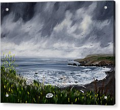 Rainy Springtime In Pacifica Acrylic Print by Laura Iverson