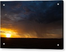 Rainy Sunset  Acrylic Print by Brandon  Ivey