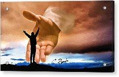 Raise Me Up Jesus Acrylic Print