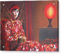 Raise The Red Lantern Acrylic Print by Karen Coggeshall