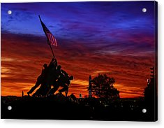Raising The Flag Acrylic Print