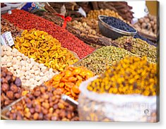 Raisins And Dried Fruit At Local Market Acrylic Print