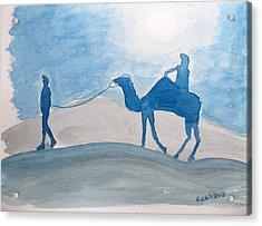 Rajasthani Blues Acrylic Print