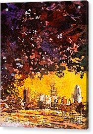Raleigh Downtown Acrylic Print