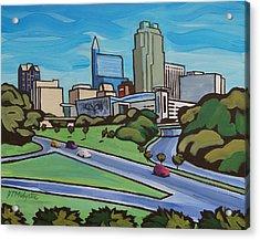 Raleigh Skyline 2 Acrylic Print