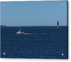 Ram Island Ledge Light Acrylic Print by Gene Cyr