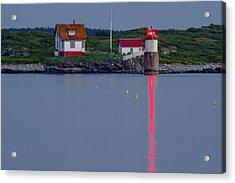 Ram Island Lighthouse At Night Maine  Acrylic Print by Keith Webber Jr