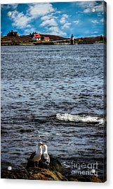 Ram Island Lighthouse Boothbay Acrylic Print