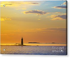 Ram Island Lighthouse Casco Bay Maine Acrylic Print