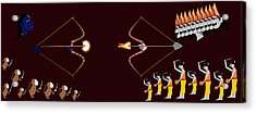 Rama Ravana War Acrylic Print