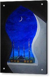 Ramadan Moon Acrylic Print by Haleema Nuredeen