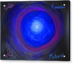 Ramadan Mubarak Acrylic Print by Haleema Nuredeen