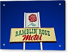 Ramblin' Rose Motel Acrylic Print