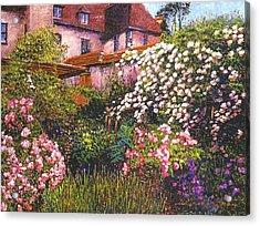 Rambling Rose Impressions Acrylic Print by David Lloyd Glover