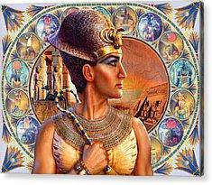 Rameses II Acrylic Print by Andrew Farley