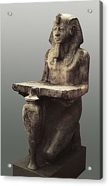 Ramesses II With The Table Of Abydoss Acrylic Print by Everett