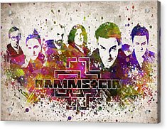 Rammstein In Color Acrylic Print