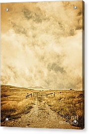 Ranch Gate Acrylic Print by Edward Fielding