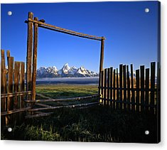 Ranch Gate Acrylic Print by Mike Norton