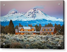 Ranch House And Sisters Acrylic Print by Inge Johnsson