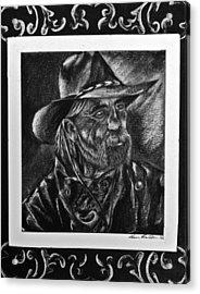 Rancher Acrylic Print by Sheena Pape