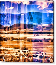 Ranchland Abstracted  Acrylic Print