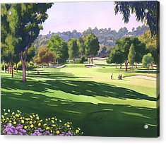 Rancho Santa Fe Golf Course Acrylic Print by Mary Helmreich