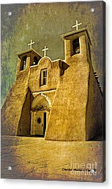 Ranchos Church In Old Gold Acrylic Print