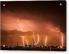 Randall Lightning Acrylic Print