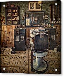 Randsburg Barber Shop Interior Acrylic Print