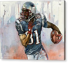 Randy Moss Acrylic Print by Michael  Pattison