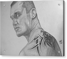 Acrylic Print featuring the drawing Randy Orton by Justin Moore