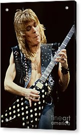 Randy Rhoads At The Cow Palace During Guitar Solo Acrylic Print