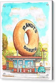 Randy's Donuts In Los Angeles - California Acrylic Print by Carlos G Groppa