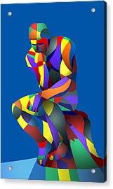 Randy's Rodin Blue Acrylic Print