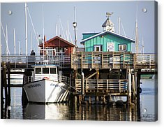 Randys Whale Watching And Fishing Trips Acrylic Print by Barbara Snyder