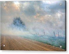 Range Burning Acrylic Print by JC Findley