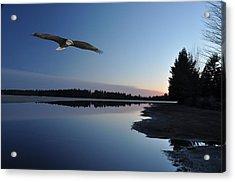Rangeline Lake Acrylic Print by RJ Martens