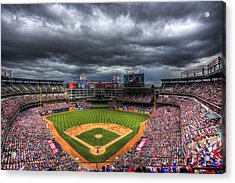 Rangers Ballpark In Arlington Acrylic Print by Shawn Everhart