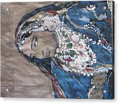 Acrylic Print featuring the painting Rani by Vikram Singh