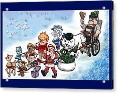 Rankin Bass Christmas Acrylic Print by Jennifer Hotai