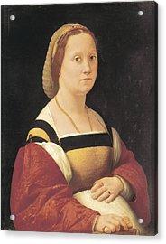 Raphael 1483-1520. Portrait Of Pregnant Acrylic Print