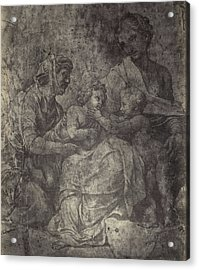 Raphael Drawing From Windsor Castle, Mary With Jesus Acrylic Print
